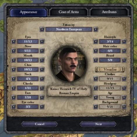 Screenshot 3 - Crusader Kings II: Ruler Designer
