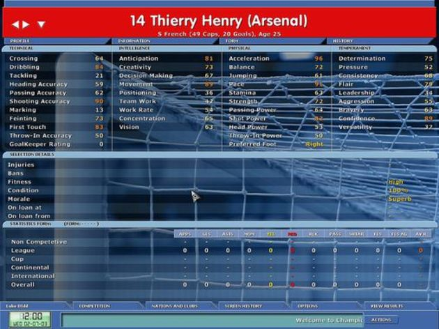 Screenshot 1 - Championship Manager 5