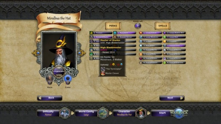 Screenshot 3 - Warlock: Master of the Arcane - Powerful Lords