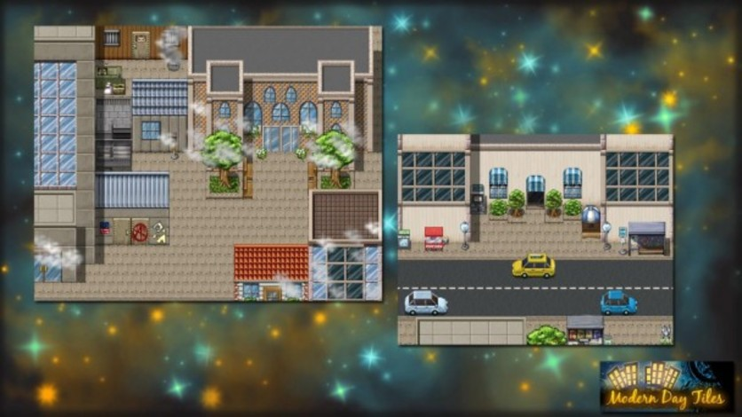 Screenshot 1 - RPG Maker: Modern Day Tiles Resource Pack